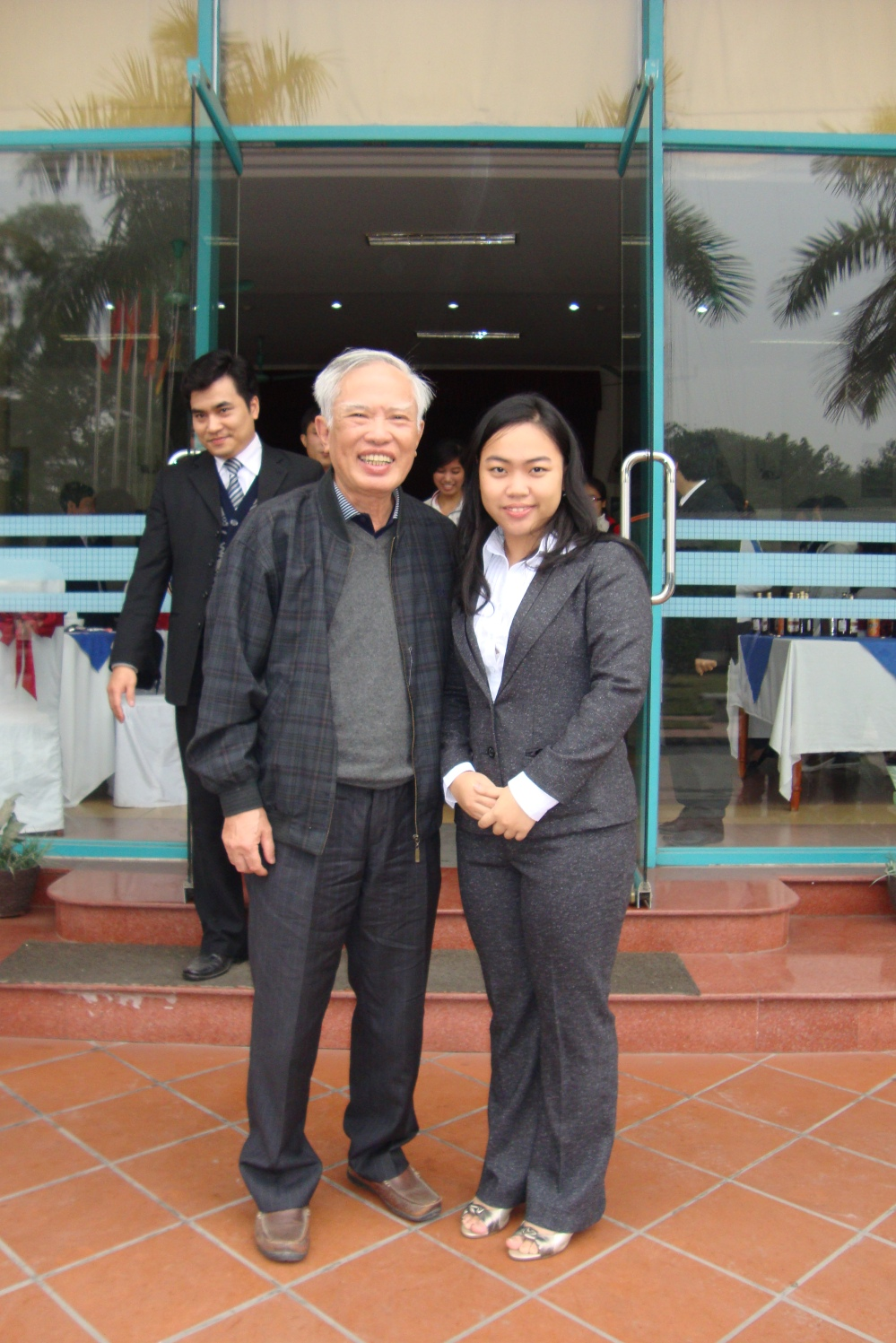 Me and Mr. Vu Khoan former Deputy Prime Minister